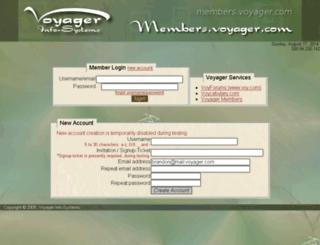 members.voyager.com screenshot