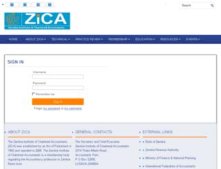 members.zica.co.zm screenshot