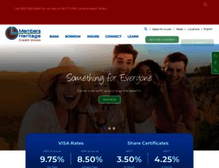 membersheritage.org screenshot