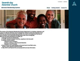 membership.adventist.org screenshot