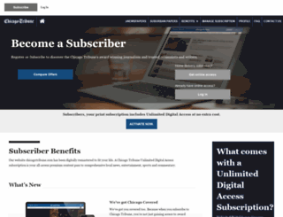 membership.chicagotribune.com screenshot