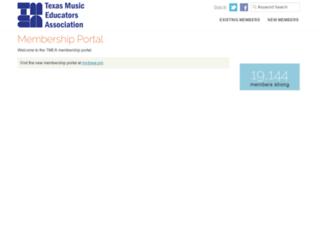 membership.tmea.org screenshot