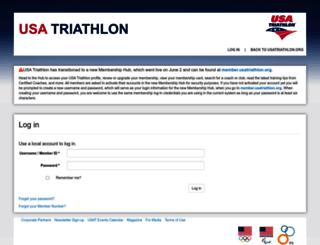 membership.usatriathlon.org screenshot