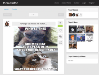 memeinme.com screenshot