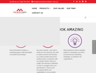 mementogifts.com.au screenshot