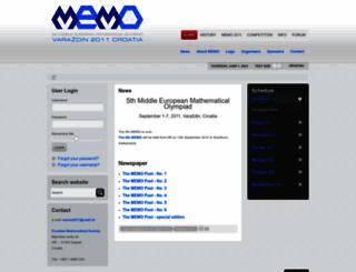 memo2011.math.hr screenshot
