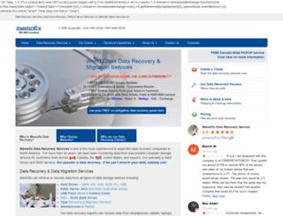memofixdatarecovery.com screenshot