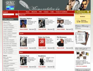 memorabilia4u.com screenshot