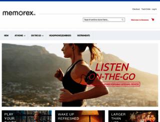memorex.com screenshot