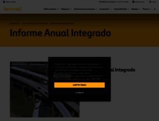 memoria2012.ferrovial.com screenshot