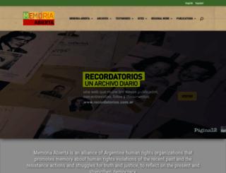 memoriaabierta.org.ar screenshot