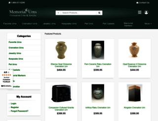 memorial-urns.com screenshot
