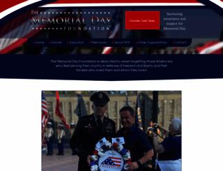 memorialdayfoundation.org screenshot