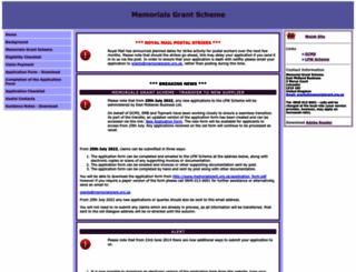 memorialgrant.org.uk screenshot