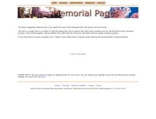 memorialpages.co.uk screenshot