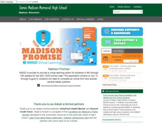 memorialweb.madison.k12.wi.us screenshot
