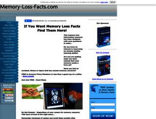 memory-loss-facts.com screenshot