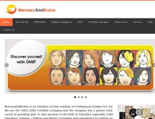 memoryandbrains.com screenshot