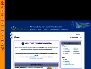 memorybeta.wikia.com screenshot