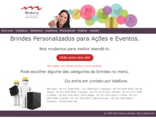 memorybrindes.com screenshot