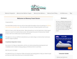 memoryfoamdoctor.com screenshot
