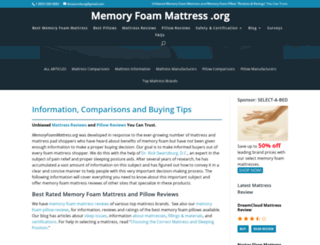 memoryfoammattress.org screenshot