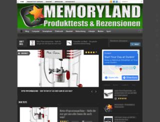 memoryland.de screenshot