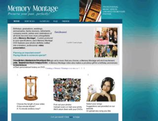memorymontage.homestead.com screenshot