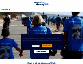 memorywalk.org.uk screenshot