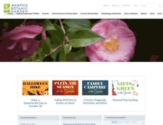 memphisbotanicgarden.com screenshot