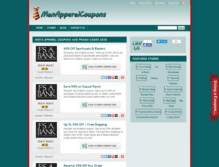 menapparelcoupons.com screenshot