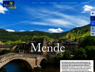 mende.fr screenshot