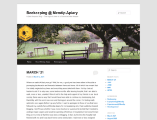mendip-apiary.co.uk screenshot