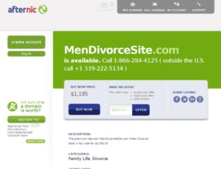 mendivorcesite.com screenshot