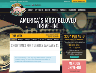 mendondrivein.com screenshot