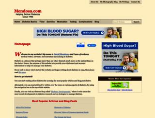 mendosa.com screenshot