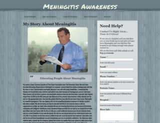 meningitisawareness.org screenshot