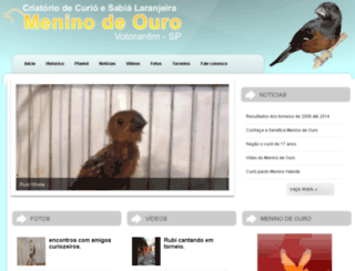 meninodeouro.com screenshot