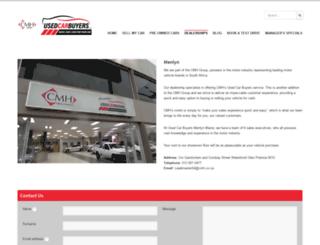 menlynautousedcars.co.za screenshot