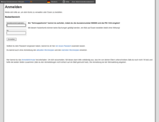 mensaeltmann.sams-on.de screenshot