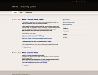 menscorduroypants.wordpress.com screenshot