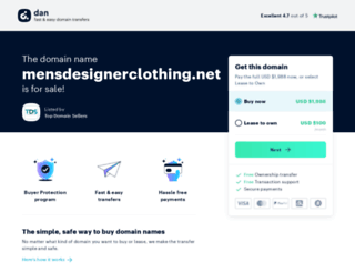 mensdesignerclothing.net screenshot