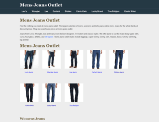 mensjeansoutlet.com screenshot