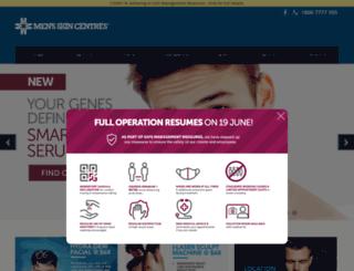 menskincentre.com.sg screenshot
