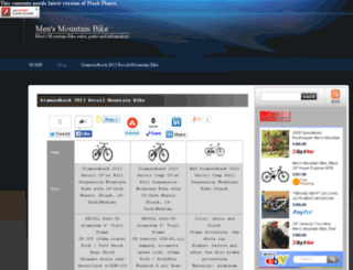 mensmountainbikesite.net screenshot