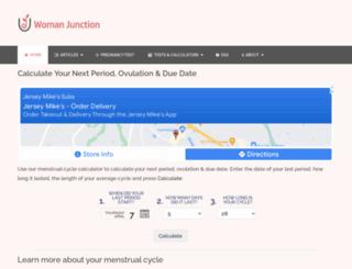 menstrual-cycle-calculator.com screenshot
