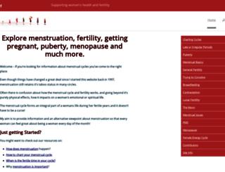 menstruation.com.au screenshot