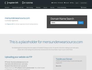 mensunderwearsource.com screenshot