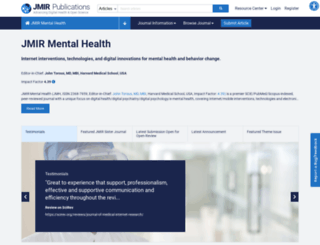 mental.jmir.org screenshot