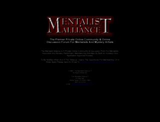 mentalistalliance.com screenshot